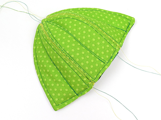 sew 3rd inner leaf to others