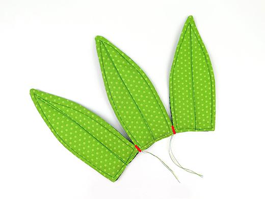 sew medium leaves