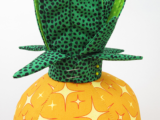 pin leaf ring pineapple cushion tutorial