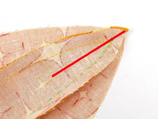 sew to midline