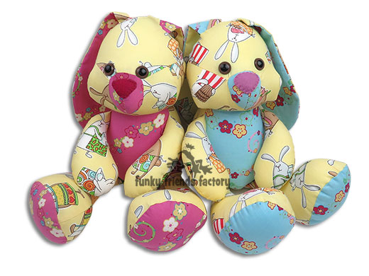 Easter bunny sewing pattern is ready funky friends factory for Bunny template for sewing