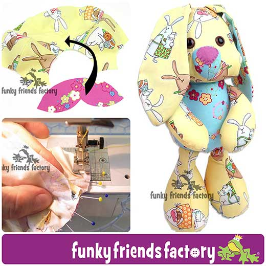Easter Bunny Sewing Pattern is ready! | Funky Friends Factory