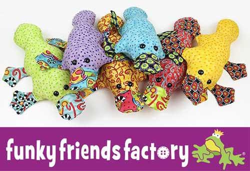 Plattie Platypus toy pattern Jennifer Jangles fabric