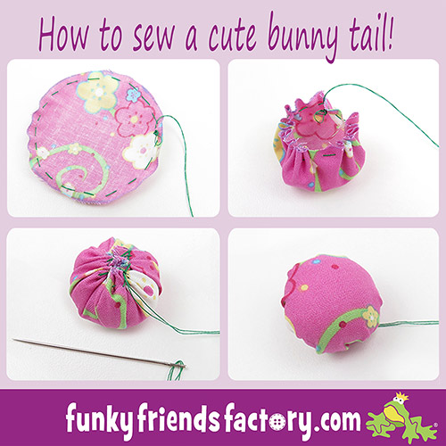 How to sew a bunny tail