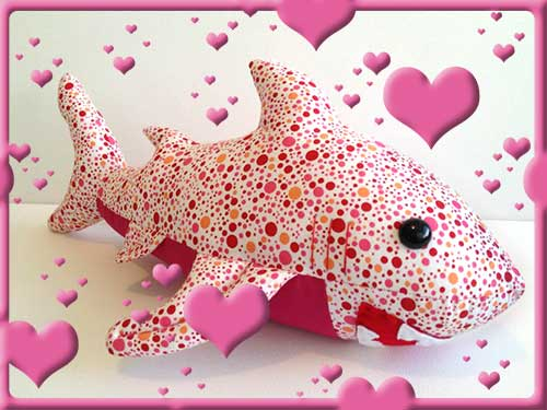 Shark with pink spots made by KorinasKreations