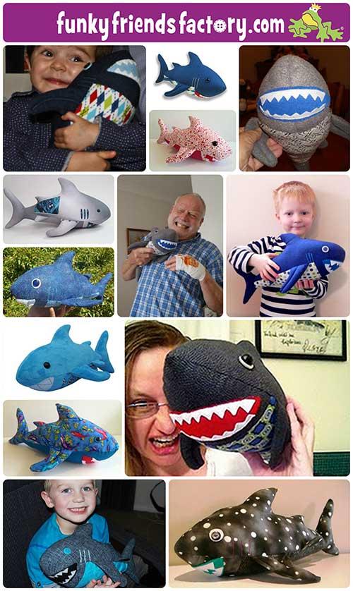 Shark sewing pattern Pauline McArthur