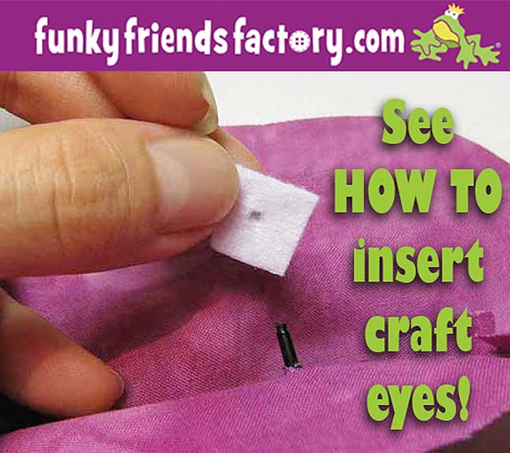 Craft eyes tutorial - how to insert