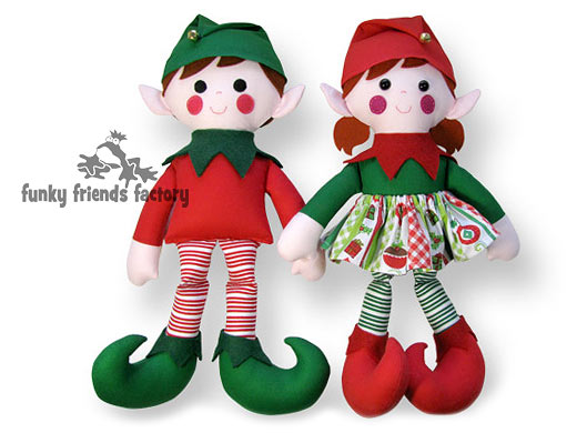 Christmas Elf Sewing Pattern Tutorial Funky Friends Factory Best Elf Pattern