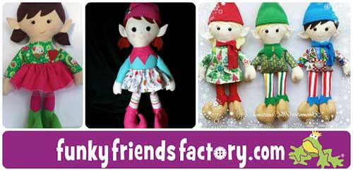 Christmas Elf Sewing Pattern Tutorial Funky Friends Factory