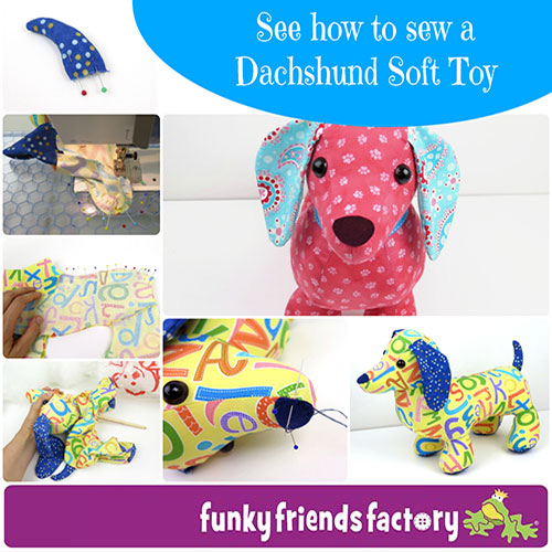 How to sew a sausage dog Dachshund tutorial | Funky Friends Factory