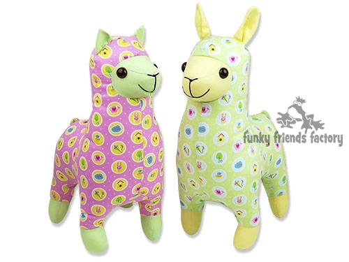Riley Blake fabric alpaca llama toy pattern