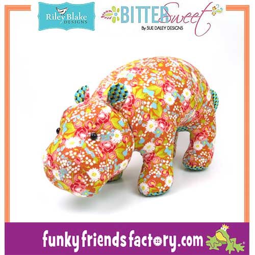 Bittersweet-Fabric-SueDaley-Riley Blake-hippo-pattern