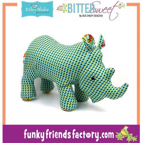 Bittersweet-Fabric-SueDaley-Riley Blake-rhino-pattern