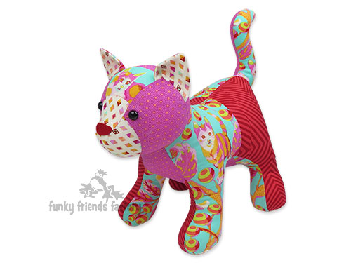 patchwork cat sewing pattern