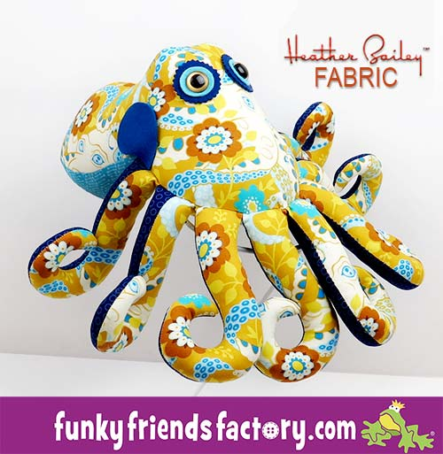 New photo tutorial for my Ozzie Octopus Sewing Pattern | Funky ...