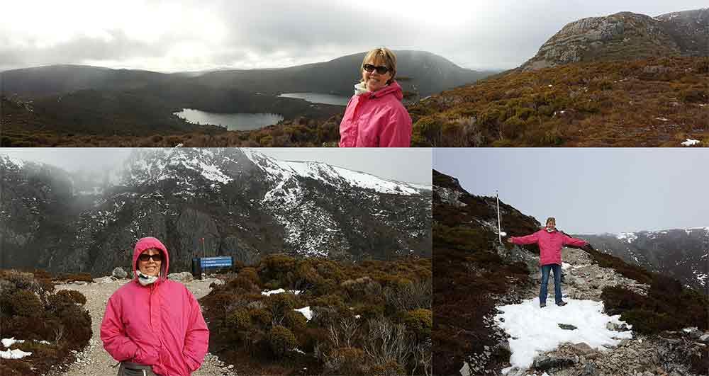 Pauline McArthur climbing Cradle Mountain