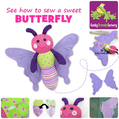 Butterfly sewing pattern photo tutorial