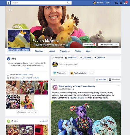 Funky Friends Factory on Facebook