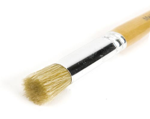 Cut-off paintbrush