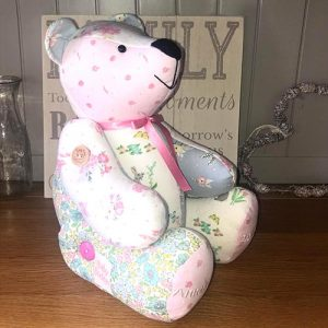 Sew lovely keepsakes with my Calico Bear pattern and baby clothes