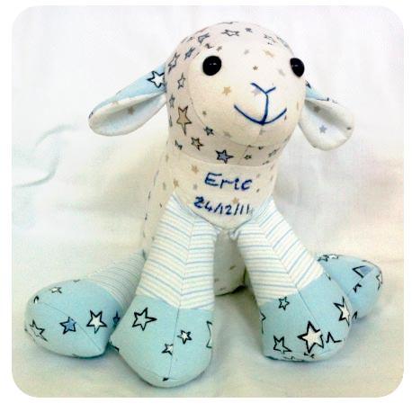 Keepsake Toy Lamb - Bunty's Basket Keepsakes