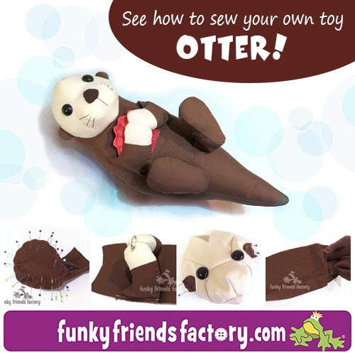 Otter toy pattern TUTORIAL