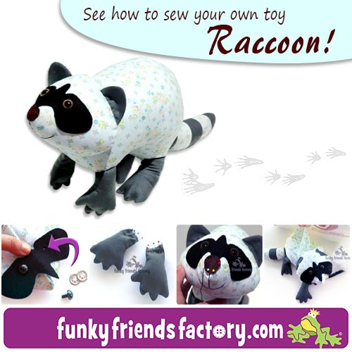 Raccoon sewing pattern tutorial
