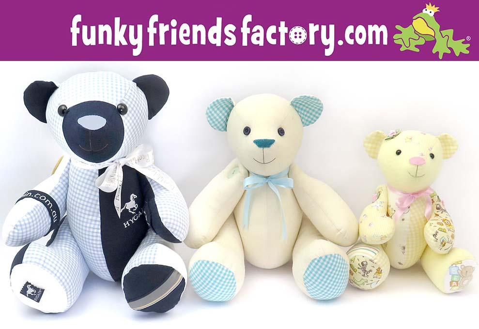 Calico Bear, Maxi Bear and Mini Keepsake Bear Patterns