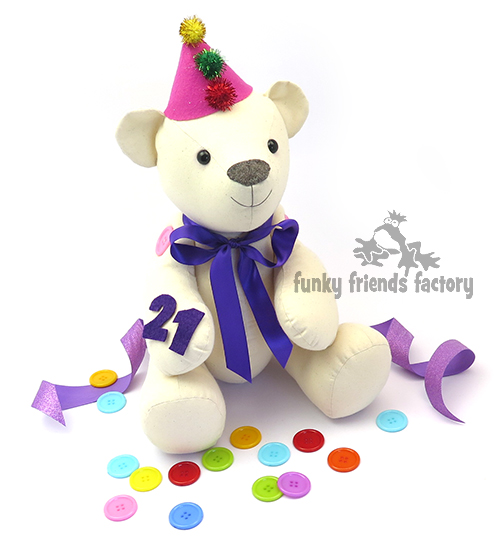 Calico Bear as a Birthday Party Bear