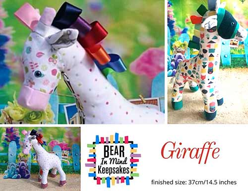 Giraffe animal keepsake - Bear in Mind Keepsakes