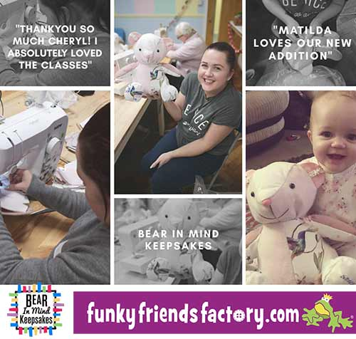 Keepsake Bear Workshop - Bear in Mind Keepsakes and Funky Friends Factory
