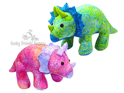 TRICERATOPS dinosaur sewing pattern