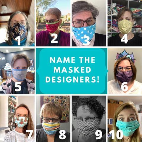 Designers sewing masks and lifting spirits! :D