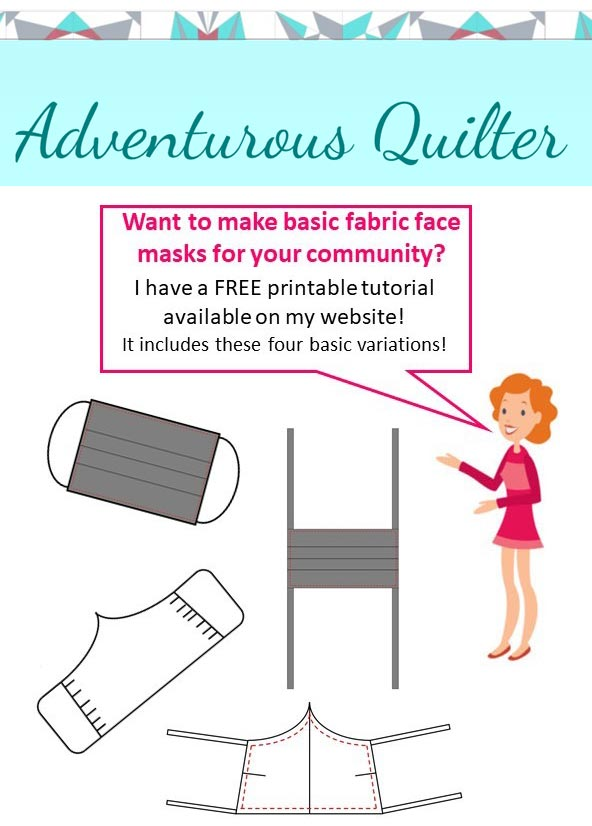 The Adventurous Quilter FREE PDF mask pattern