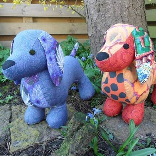 Dachshund sewing pattern sewn by KarinEkman