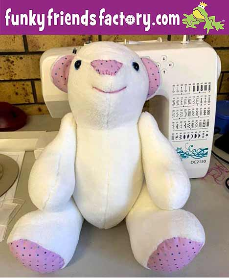 FREE Memory Bear pattern sewn by Jemima Brady