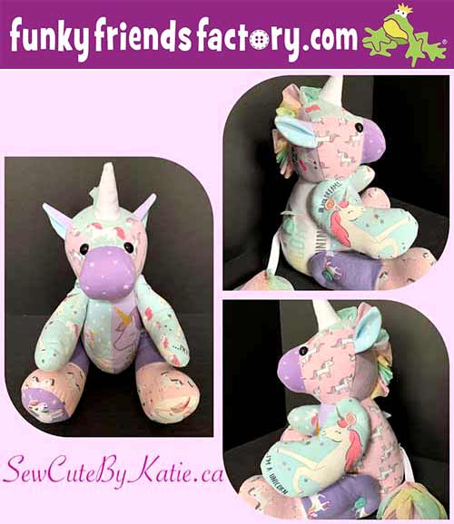 Free unicorn keepsake pattern sewn by Katie Marie