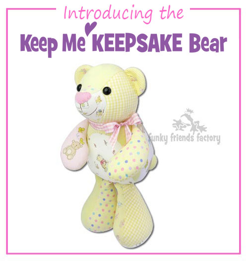 NEW Keepsake Bear Pattern for you to sew lovely keepsakes with! 💗💗
