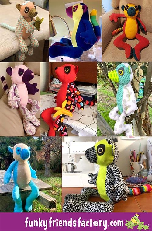 Lemur sewing pattern customer feedback collage
