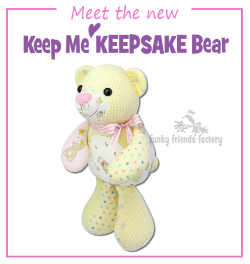 Meet the new Keep Me KEEPSAKE Bear Pattern
