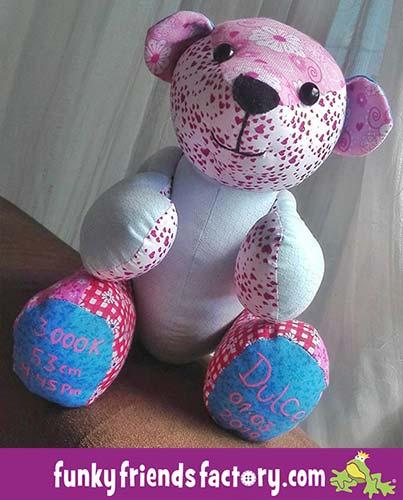 FREE Memory Bear Pattern during lockdown sewn by Carol Manuela Patino