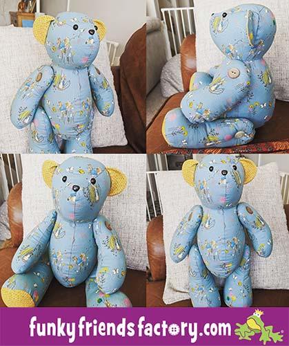 Free-memory-bear-pattern sewn by Sara during lockdownarah-Homewood