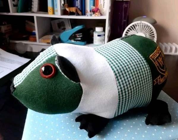 guinea pig school uniform keepsake toy