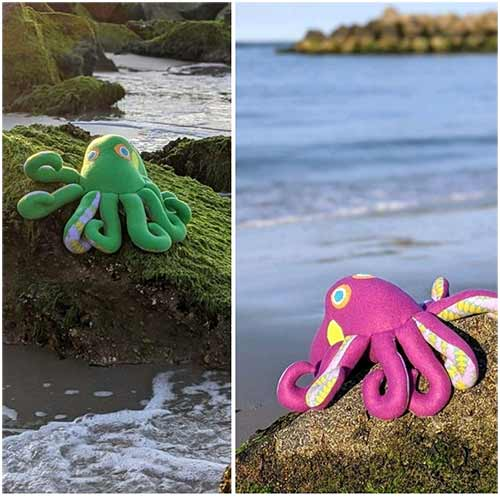 Octopus pattern sewn by GBBedford