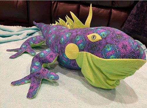 Iguana Pattern sewn by JackieH