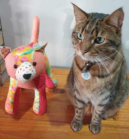 cat pattern sewn by LouiseC