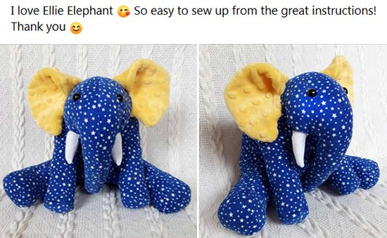 Elephant Pattern sewn by Heather C