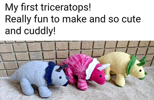 Triceratops Pattern sewn by Adele O.