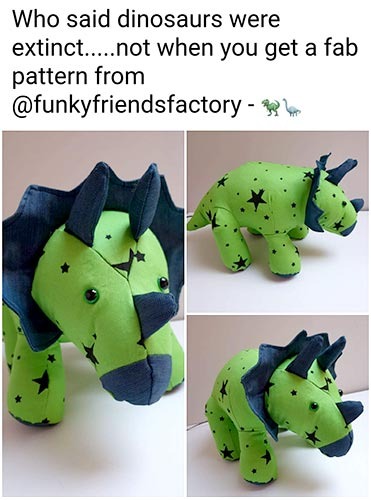 Triceratops Pattern sewn by Gai McN