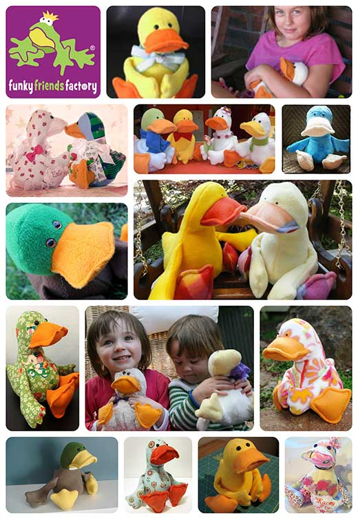 Duck sewing pattern - feedback photos